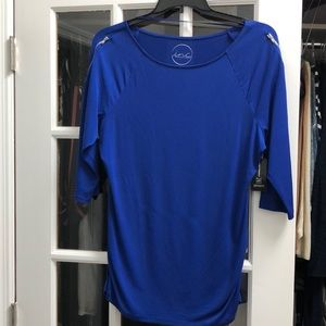 INC cobalt blue blouse
